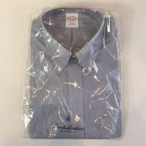 NEW Brooks Brother Trad Stripe Men dress shirt